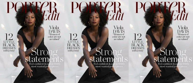 Illustration for article titled 'I Am Mirroring Women': Viola Davis Gets Real in Porter Edit