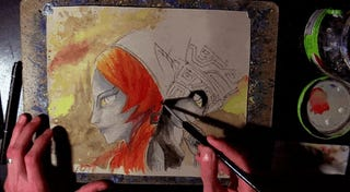 Watch An Artist Bring Twilight Princess' Midna To Watercolor Life