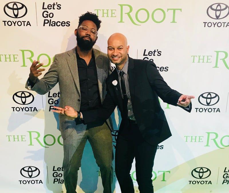 Damon Young and Panama Jackson at The Root 100 Gala (Panama Jackson archive)