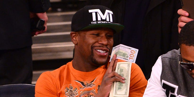 Illustration for article titled Floyd Mayweather Is A Bad Sports Bettor, So Stop Writing About It