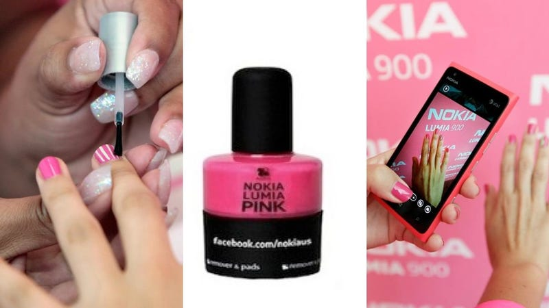 Illustration for article titled Style Is Dead: Nokia Released a Hot Pink Nail Polish to Commemorate the Release of Its New Pink Lumia