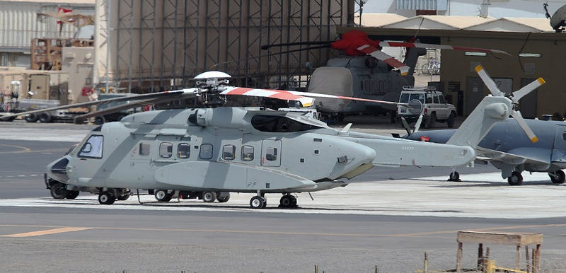 Illustration for article titled Who Owns These Mysterious S-92 Helicopters Spotted In Djibouti?