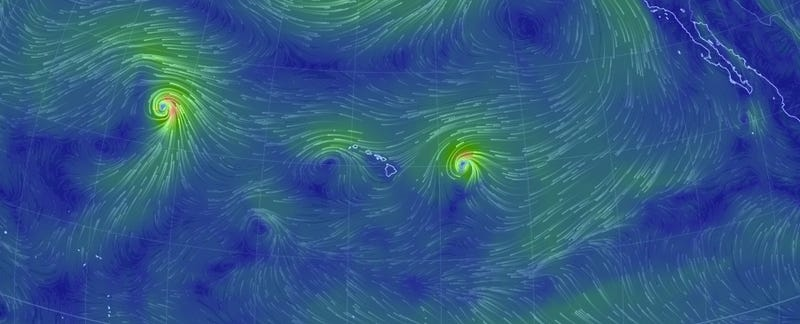This Wind Map Explains Everything About The Storms Hitting Hawaii