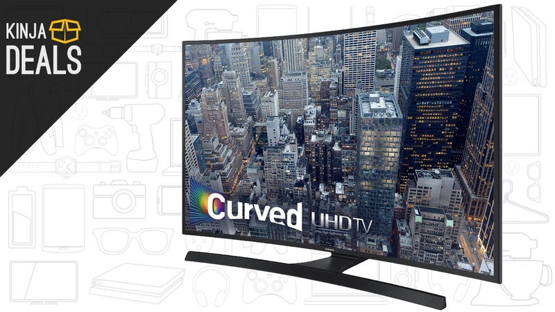 "Illustration for article titled This 55"" Curved 4K TV Is Under $1000 For The First Time"