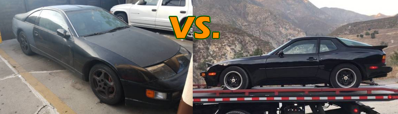 Illustration for article titled Thousand-Dollar Rad Coupe Challenge: 944 vs 300ZX