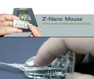 Illustration for article titled World's Smallest Optical Mouse Proves Some Gadgets Don't Need To Be Tinier