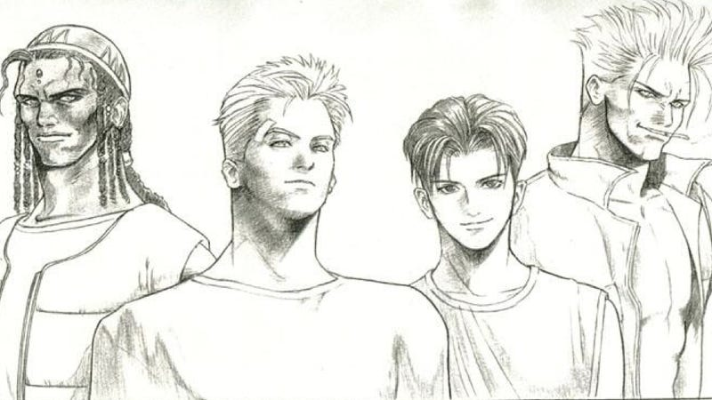 Illustration for article titled Unseen Tetsuya Nomura Sketches From the 1990s