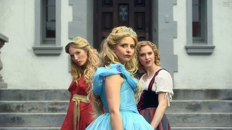 Illustration for article titled Sarah Michelle Gellar is a rapping Cinderella