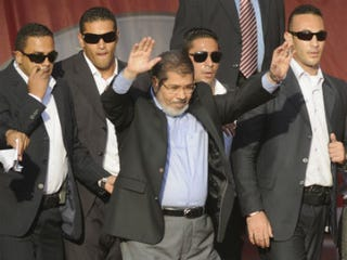 Mohamed Morsi at swearing-in ceremony (AFP/Getty Images)