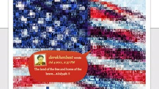 Illustration for article titled An American Flag Full of Tweets