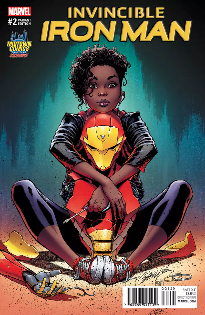 2017 INVINCIBLE IRON MAN #1 CAMPBELL COLOR VARIANT RIRI WILLIAMS  NM SOLD-OUT!