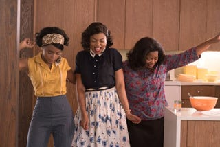 Janelle Monáe, Taraji P. Henson and Octavia Spencer in a scene from Hidden FiguresScreenshot
