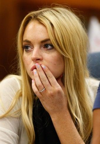 Illustration for article titled Lindsay Lohan Won't Do Jail Time For Failed Drug Tests