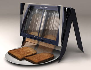 Illustration for article titled The Nahamer T450 Toaster Eliminates Toast Popping For Toast Dropping