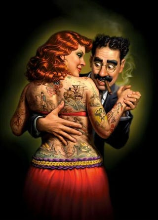 Illustration for article titled Lydia The Tattooed Lady
