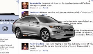 Illustration for article titled Honda Responds To Facebook Crosstour Hatefest