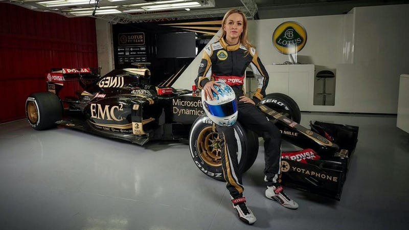 Carmen Jordá, one of the few women who's come close to an F1 seat in recent years. Photo credit: Lotus F1