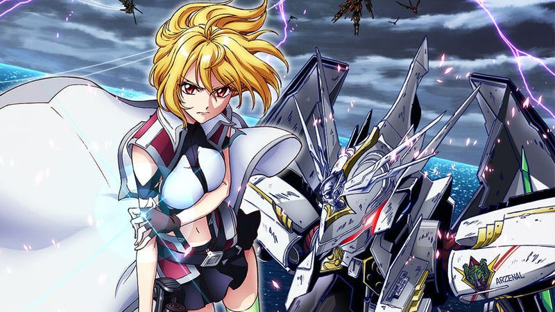 Illustration for article titled Cross Ange Adds Fanservice and Anal Rape to the Gundam Formula