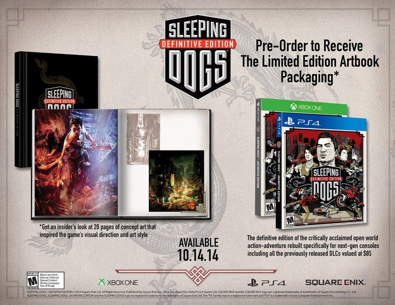 Illustration for article titled Looks Like Sleeping Dogs Is Coming To Xbox One/PS4