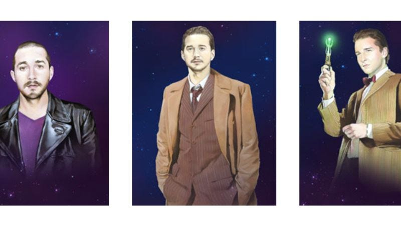Illustration for article titled Here's a Shia LaBeouf/Doctor Who crossover for absolutely no reason