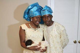 Charlotte and Olusola Fadare with their newborn daughterCourtesy of Charlotte Fadare