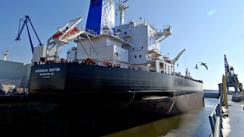 Disaster strikes as massive quantities of oil reach their intended destination.