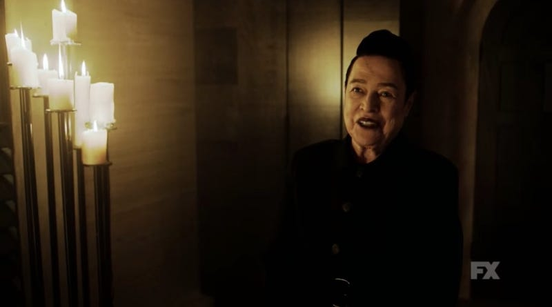 We don't know much about Kathy Bates' apparently new character, except that she's pro-Satan.
