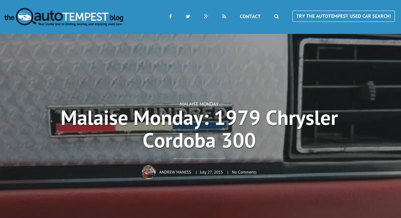 Illustration for article titled Malaise Monday: 1979 Chrysler Cordoba 300