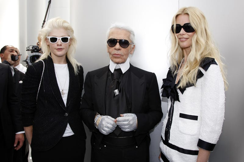 Illustration for article titled Karl Lagerfeld & Friends: Black & White & German All Over