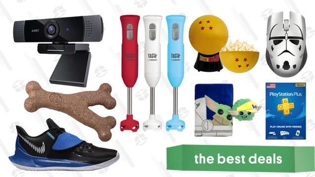 Wednesday s Best Deals: Aukey Webcam, PlayStation Plus, Baby Yoda Towel/Loofah Set, Razer Accessories, Eastbay Athleisure Sale, Dog Chew Toys, and More