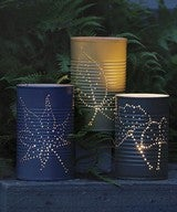 Illustration for article titled Recycle Tin Cans into Garden Lanterns