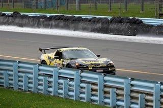 Illustration for article titled Racing Corvette ZR1 Crash