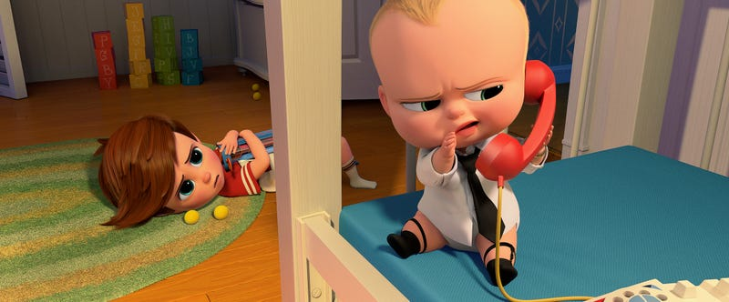 Yep, a newborn wears sock garters in The Boss Baby. Image: DreamWorks Animation. © 2016 DreamWorks Animation LLC. All Rights Reserved.