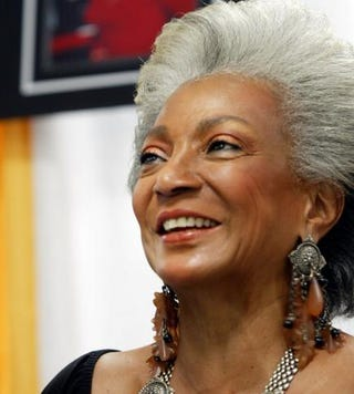 Nichelle Nichols appears at the Sci-Fi and Fantasy Creators Convention June 27, 2003, in New York City.Chris Hondros/Getty Images