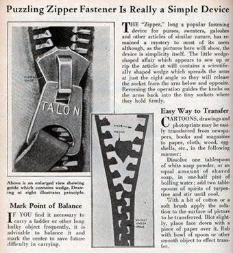 "Illustration for article titled Zipper Maven: ""A Button Is Unpleasant"""