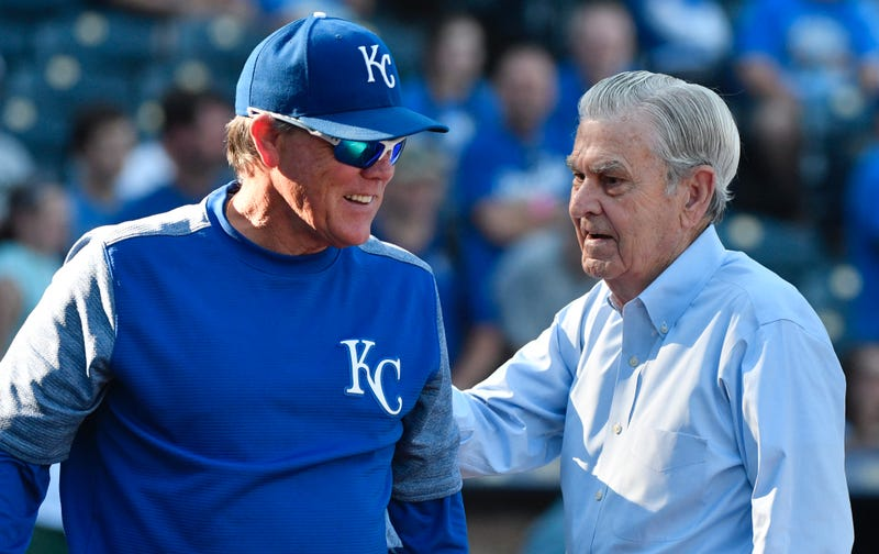 Ned Yost and David Glass in 2017.