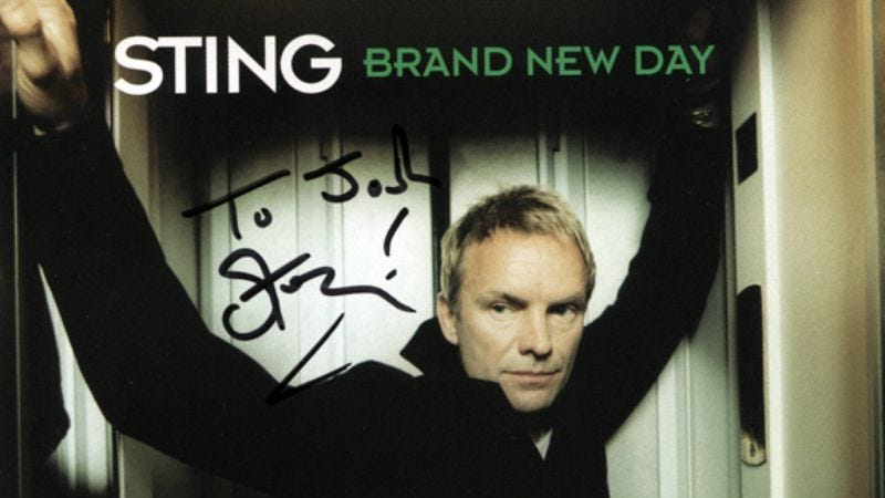 Illustration for article titled Autographed Sting Brand New Day CD