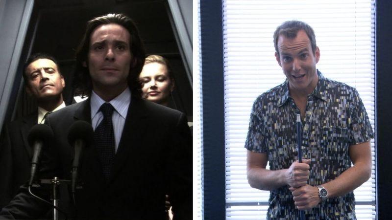 Battlestar Galactica (Screenshot: Hulu) and Arrested Development (Screenshot: Netflix)