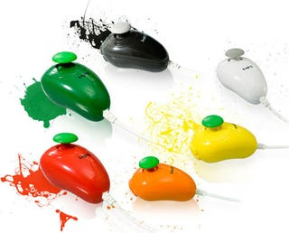Illustration for article titled Colorful Nunchuks Hit Wii