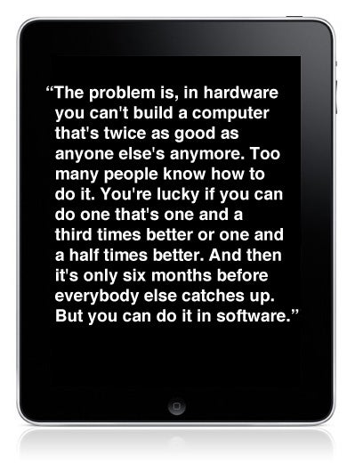 A MustRead Classic Steve Jobs Interview Hardware Vs Software