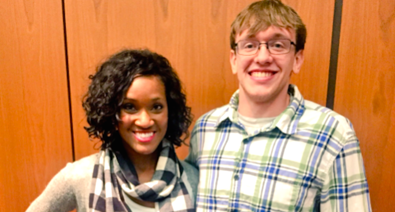 Leanna E. meets with Western High School student Tyler Tackett, who called her the n-word.Leanna E. via Twitter