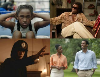 Top row: The Fits (Paul Yee); Miles Ahead (courtesy of the Sundance Institute). Bottom row: Sleight (courtesy of Sleight); Southside With You (Pat Scola).