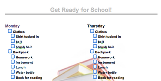 Illustration for article titled Inspire Kids to Get Ready for School Early with a Checklist