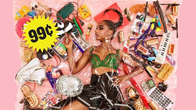 Illustration for article titled This Ziploc Baggie Art Piece Is Santigold's New Album Cover