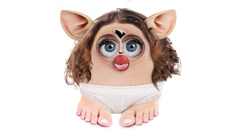Illustration for article titled What Would It Be Like If A Real Woman Had Furby's Proportions?