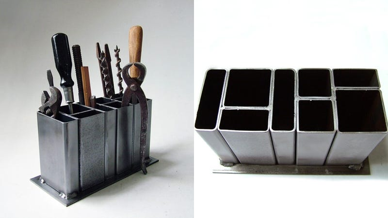 Illustration for article titled Fortify Your Boring Cubical WIth an Industrial Desk Organizer