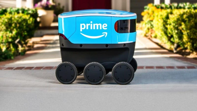 Illustration for article titled If You See a Human Working With Amazon's Delivery Bots, Give Them Your Feedback