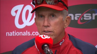 Illustration for article titled Davey Johnson Is Perplexed And Unmoved By Press Conference Fire Alarm