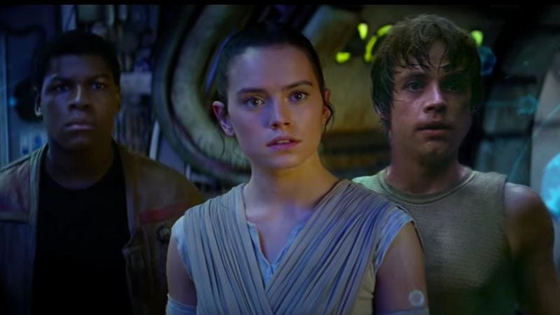 Illustration for article titled Missing Luke in the new The Force Awakens trailer? Now he's in all the scenes