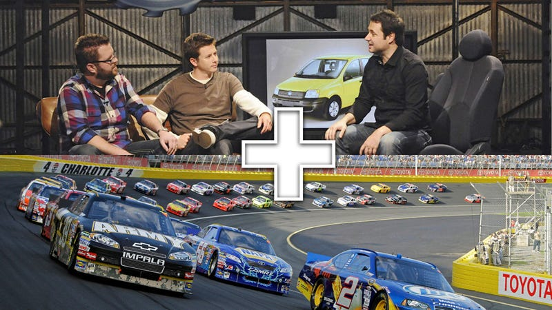 Illustration for article titled Top Gear USA, Nascar combine for magical Top Gear 300